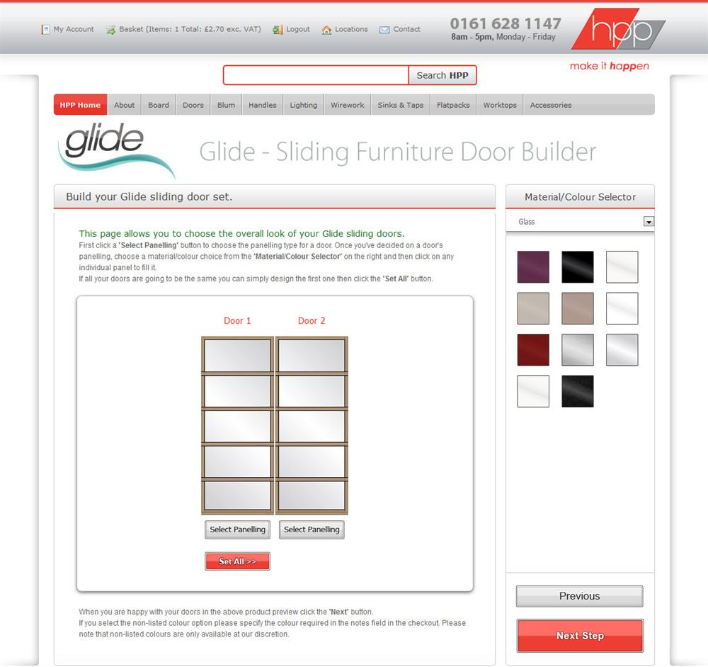 Hill's Panel Products Glide Silding Door Builder screenshot