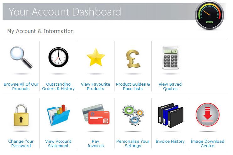 Hill's Panel Products Account Dashboard screenshot