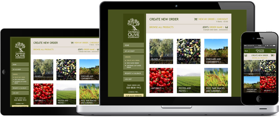 Fresh Olive's responsive website